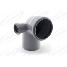 Отвод канализационный Дн110/50х87 гр. левый