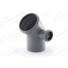 Отвод канализационный Дн110/50х45 гр. правый